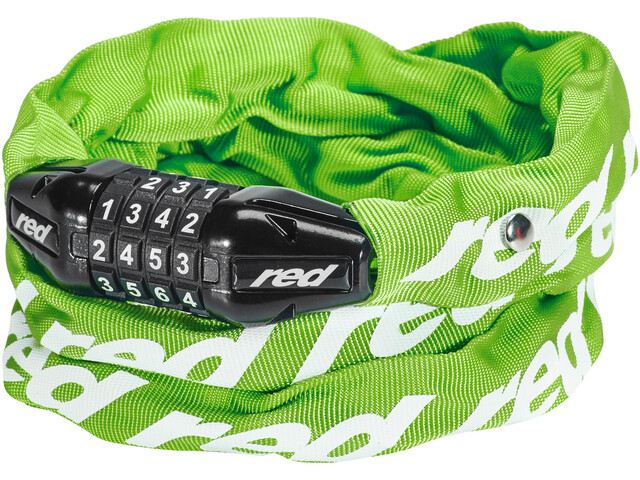 Red Cycling Products Secure Chain Chain Lock resettable green